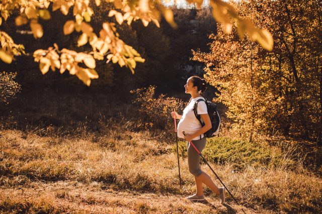 Pregnant Women Hiking