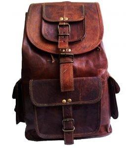 B01JGMWSZ2 - 18 inch Leather Travel Backpack