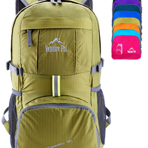 B01N9QDOEJ - Venture Pal Lightweight Packable Durable Travel Hiking Backpack Daypack