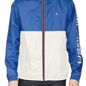 B07RGX7WM7 - Tommy Hilfiger Men's Active Water Resistant Rain Jacket