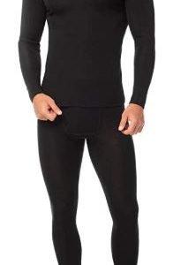 B07589NPZP - LAPASA Men's 100% Merino Wool Thermal Underwear Long John Set - Black