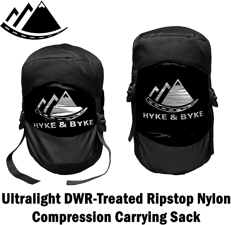 Hyke /& Byke Shavano 32 Degree F 650 Fill Power Hydrophobic Down Sleeping Bag