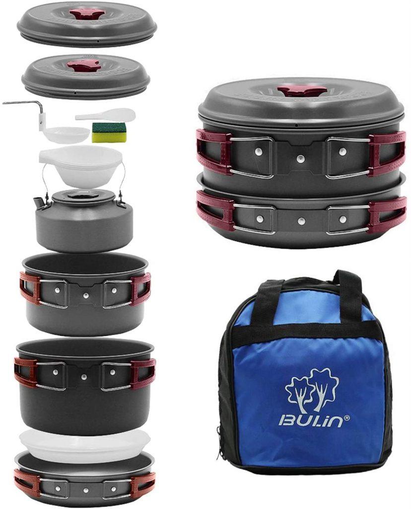 B0799MQM4K - Bulin 13-piece Backpacking Cookware Set