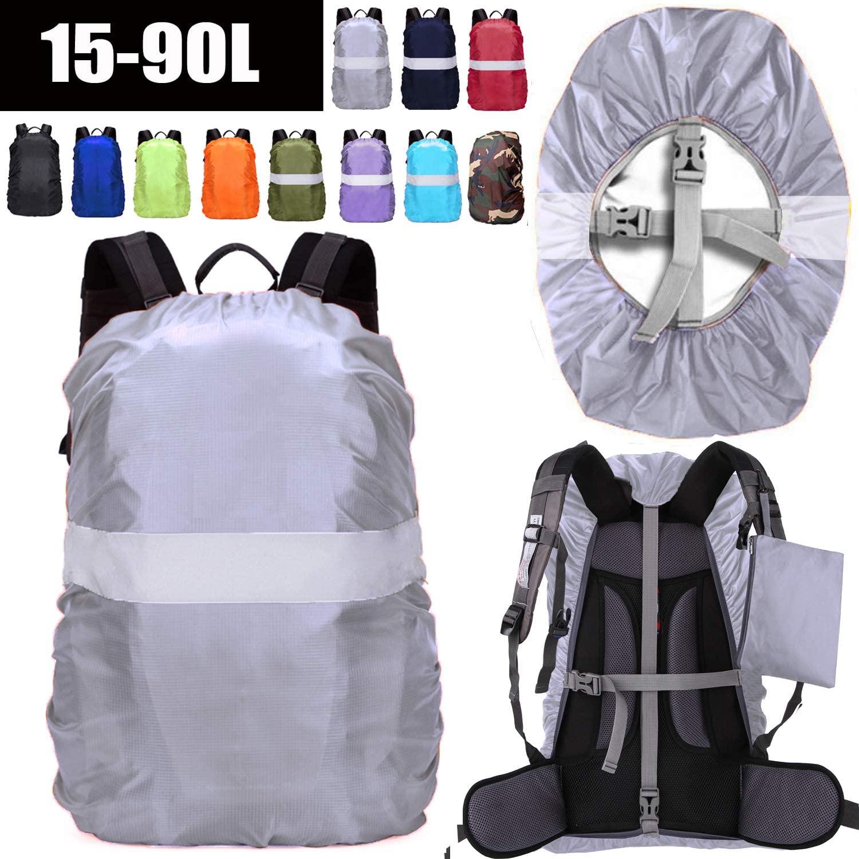 B07K127685 - ZM-SPORTS 15-90L Backpack Rain Cover