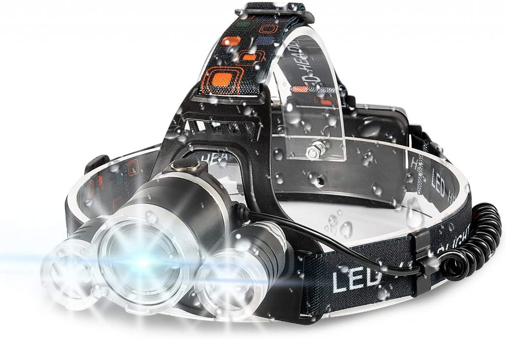 B07Q3K9WMV - IKAAMA 6000 Lumens 18650 USB Rechargeable Headlamp