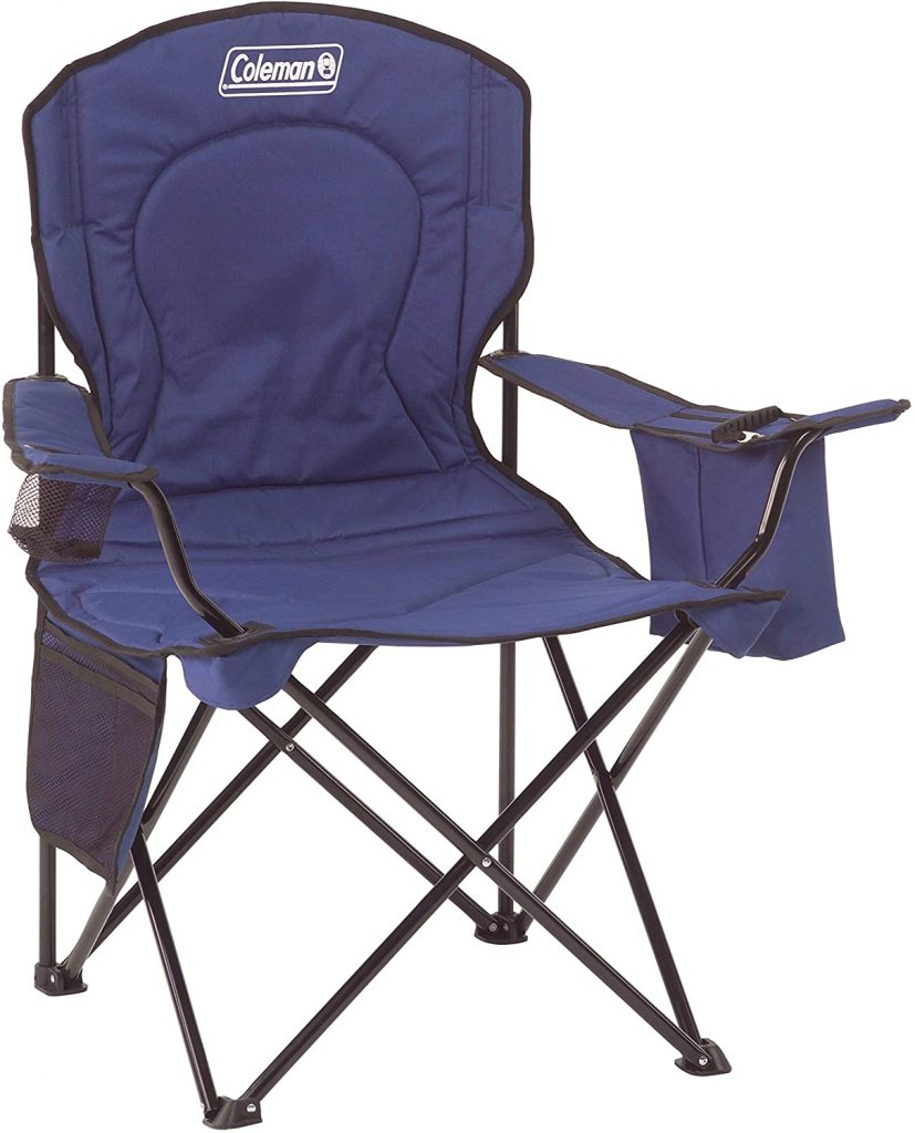 B00339910A - Coleman Portable Camping Quad Chair with 4-Can Cooler