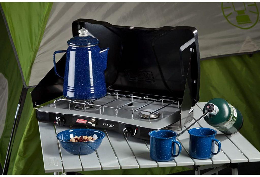 B00AU6GG2U - Coleman Gas Camping Stove Triton+ Propane Stove, 2 Burner