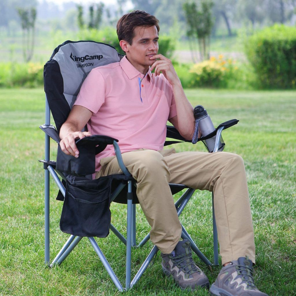 B010DHS22C - KingCamp Camping Chair with Lumbar Back Support
