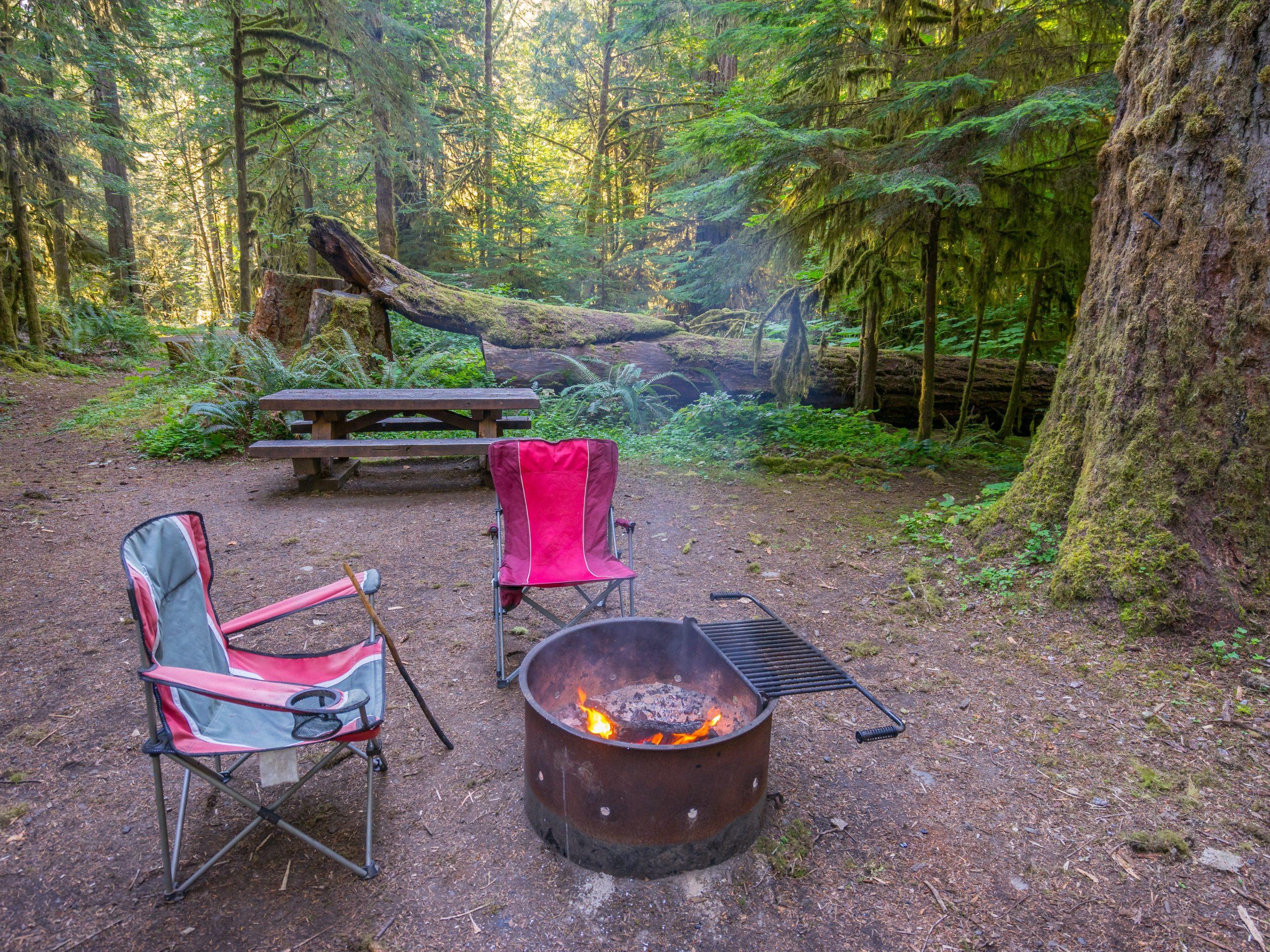 Camping Chairs at campfire
