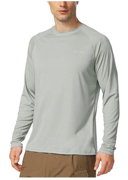 B071F121YC - BALEAF Men's UPF 50+ Sun Protection Shirts Long Sleeve Dri Fit SPF T-Shirts