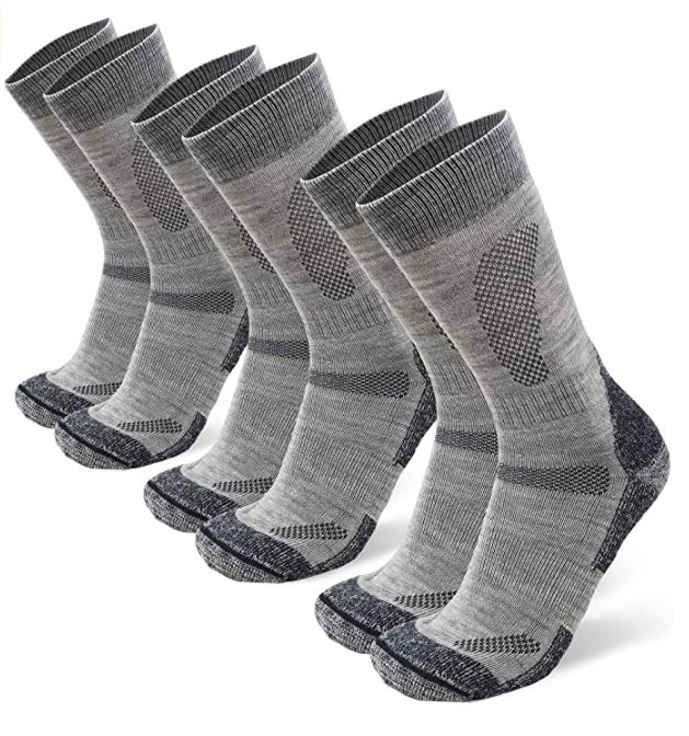 B07D8WQ764 - DANISH ENDURANCE Merino Wool Hiking & Walking Socks 3-Pack