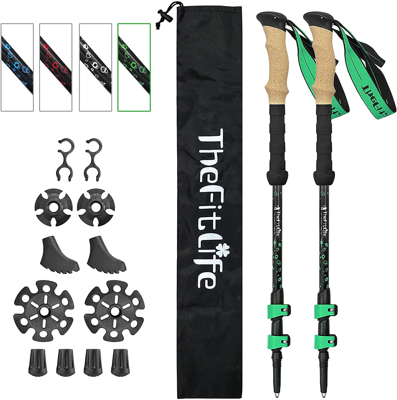 B07HK54MKP - TheFitLife Carbon Fiber Trekking Poles