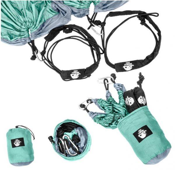 B07B31BJQJ - Legit Camping - Double Hammock - Lightweight Parachute Portable Hammocks