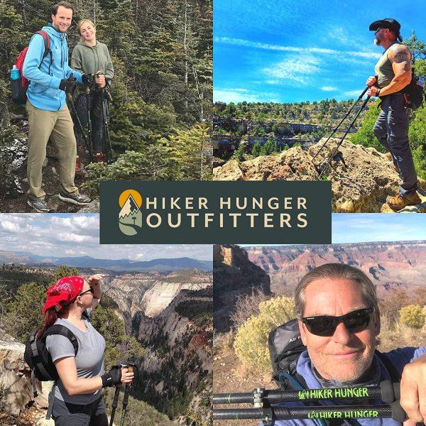 B01C60REBO - Hiker Hunger 100% Carbon Fiber Trekking Pole 2.0