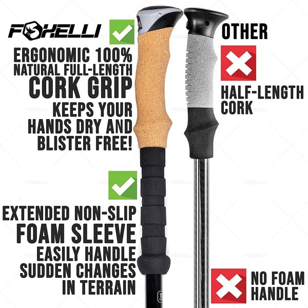 B01IC7XZ68 - Foxelli Carbon Fiber Trekking Poles