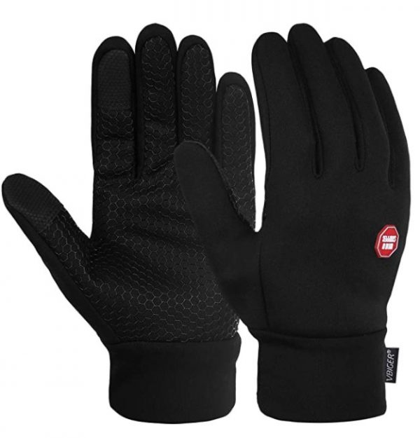 B07439NQ2K - Vbiger Men Winter Warm Gloves Windproof Anti-slip Touch Screen Gloves