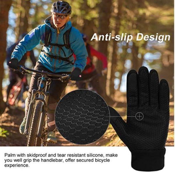 B07439NQ2K - Vbiger Men Winter Warm Gloves Windproof Anti-slip Touch Screen Gloves