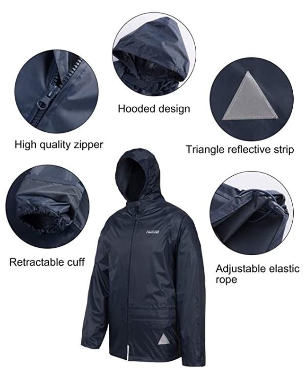 B07NNMVF5K - SWISSWELL Men's Rain Suit Waterproof Lightweight Hooded Rainwear