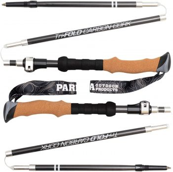 B0825P16VJ - Paria Tri-Fold Carbon Cork Trekking Poles